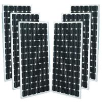 Black Mono Crystal Solar Panel For Home , Monocrystalline Solar Panels 250w  Manufactures