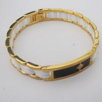 Gold Plated Stainless Steel Fashion Ceramic Bracelets with Carbon Fiber Manufactures