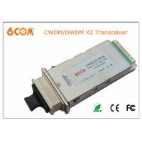China DWDM 10gbase X2 module 80KM SC , Compatible DDMI Fiber Optic Module on sale