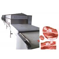 Popular Sliver Microwave Meat Thawing Machine Continuous Tunnel Belt 40 KG / H Manufactures