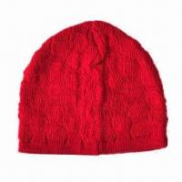 Knitted Beanie Hat with Jacquard Pattern, Various Colors and Sizes Available Manufactures