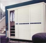 Modern Customized White Wardrobe Sliding Door, 6063 Aluminum Profile Sliding Closet Door Manufactures