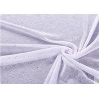 White / Pink Cotton Knit Fabric Toy / Kitchen Curtain Fabric Manufactures