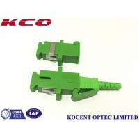 SC APC and UPC Shutter Fiber Optic Adapter For FTTH GEPON Telecom Grade 60dB RL Manufactures