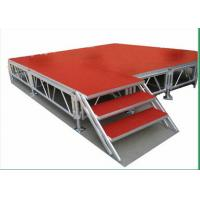 Indoor Movable Stage Platform 1.22 X 1.22M Aluminum Height TUV Manufactures
