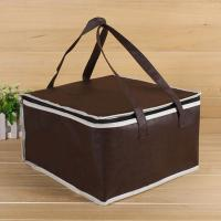China OEM Custom Printing Soft Insulated Cooler Bag 4 size brown insulated bag stock available on sale