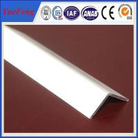 Quality extruded profile aluminium angle for industry using drawings design for sale