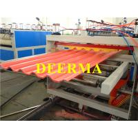 China Plastic Roofing Sheet Making Machine , PVC Roof Panel Machine Production Line on sale