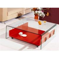 Beautiful Crystal Clear Home furniture BENT TEMPERED GLASS COFFEE TABLES Manufactures