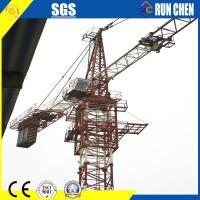 6ton Self Erecting Yellow Runchen Brand Hammerhead Tower Crane 55jims 44M Height for Asian Country Manufactures