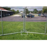 Galvanized Portable Australian Temporary Fencing , Chain Link Fence Panels Manufactures