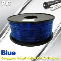 Blue 3mm Polycarbonate Filament Strength With Toughness1kg / roll PC Flament Manufactures