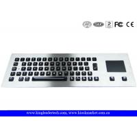 Illuminated industrial pc keyboard with integrated Touchpad , ruggedized keyboard Manufactures
