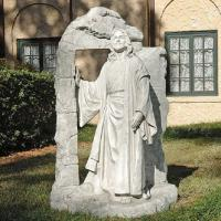China Jesus walking out tombstone marble jesus Christian statue,China stone carving Sculpture supplier on sale