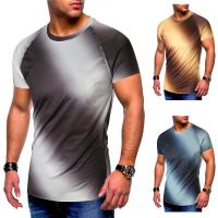 Summer Soft Thin Trendy Oversized T Shirts Custom Gradient T Shirts For Men Manufactures