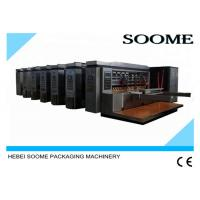 High Speed 180 PCS / min Water Based Printer Slotter Rotary Die Cutter Machie Manufactures