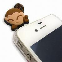3D Soft PVC Cellphone Plug, Customized Designs are Welcome Manufactures