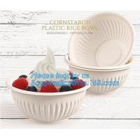 24oz disposable plastic soup bowl corn starch white bowls with lids,Disposable Round Soup Corn Starch Biodegradable Bowl