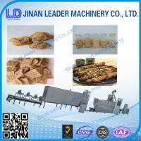 extruder machine Textured soya protein  Vegetarian soya meat Soya nugget food snack produc Manufactures