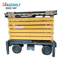 China Hydraulic Mobile Industrial Scissor Lift Table High Strength Manganese Steel Material on sale
