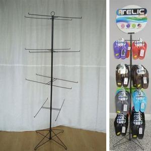 Slipper Flip Flops Metal Floor Stand Custom Made Shoe Spinner Display Rack Manufactures