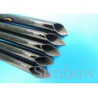 China Heat proof High Voltage Silicone Fiberglass Sleeving inside fiber and outside rubber on sale