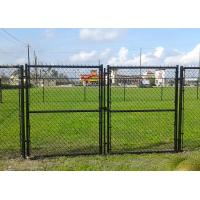 School Timber Garden Gates Black PVC Coated , Commercial Garden Mesh Fencing Manufactures