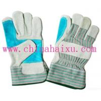 Working Cow Split Leather Gloves Manufactures