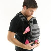 Functional Baby Carrier Tactical Vest With Breathable Mesh Shoulder Straps for sale