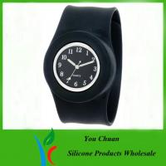 Customized Waterproof Silicone Slap Watch With Janpanese Quartz / Digital Movement Manufactures