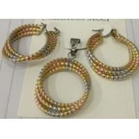 Cheap Wholesale Jewelry Three Color Fashion Jewelry Sets for Women Manufactures