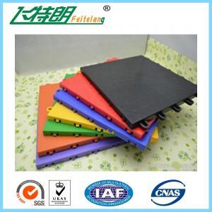 China Non - Slip Rubber Interlocking Playground Matting PolypropyleneFlooring on sale