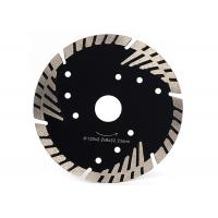 Customized Size Diamond Circular Saw Blade With Triangular Turbo Protection Teeth Manufactures