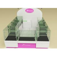 Quality Fully Lockable Wood Glass Jewelry Showcase Kiosk , Retail Commercial Display Cases for sale