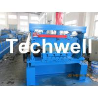 10 - 12Mpa Hydraulic Pressure Metal Deck Roll Forming Machine for 0.8 - 1.2 mm Thickness Manufactures