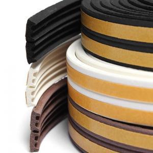 Flexible medium density sponge silicone rubber flat seal strip Manufactures
