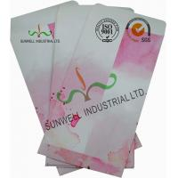Normal Finising Ordinary Paper Custom Printed Envelopes 4 Colors Peach Flowers Manufactures