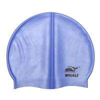 Large Stretch Blue Silicone Swimming Caps Easy Fit Mold Fashionable For Adult Manufactures