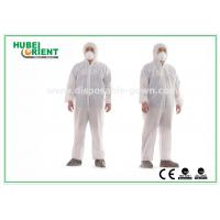Hooded Nonwoven Disposable Coveralls with Various Colors CE Standard Manufactures
