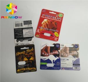 China UV Printing Blister Card Packaging CBD Oil Bottle Paper Blister Cards / Electronic Vape Cartridge on sale