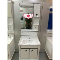 Quality House / Hotel Mirror 60cm PVC Bathroom Cabinet With Single Bowl for sale