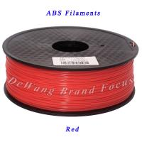 Extruder 3D printing materials  red abs filament   1.75mm Diameter Manufactures