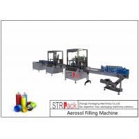 China 52mm-65mm Aerosol Filling Line With Aerosol Spray Filling Machine And Automatic Ball Dropper on sale