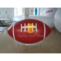 Red Inflatable Advertising Sport Rugby Ball Balloons with total digital printing for Party Manufactures