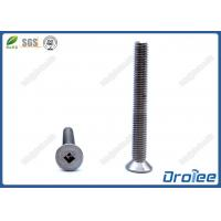 China 304/316 Stainless Steel Square Drive Flat Head Machine Screw on sale