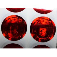 China One time use tamper evident red holograhic security stickers on sale