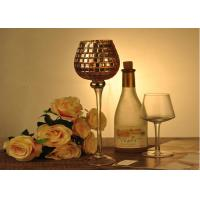 China Stemware Mosica Vintage Glass Candle Holders For Wedding Eco Friendly on sale
