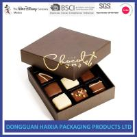 Light Weight Chocolate Rigid Gift Boxes Fashionable Style For Valentine's Day Manufactures
