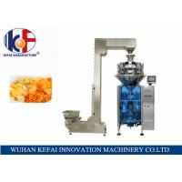 KEFAI Automatic Weighing Sales Chips / Snack Nitrogen Packing Machine For Food Manufactures