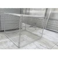 Customized Galvanised Steel Rubbish Cage HDG 14 Microns / 42 Microns Manufactures